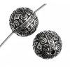 Metalized Bead with Sterling Silver coating 9mm Round Antique